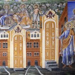 "Стенописи на Захарий Зограф в притвора на католикона  на Великата Лавра ""Св. Атанасий Атонски"". Снимка © Марин Христов"