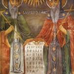 Стенопис на светите братя Кирил и Методий от Троянския манастир