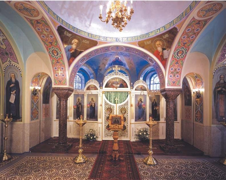 Църквата, посветена на свети Йоан Рилски в манастира, основан от св. Йоан Кронщадски