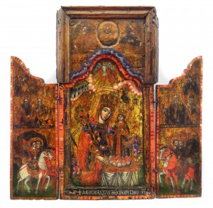 Св.-Богородица-неувяхваща-роза-с-префигурации-новозаветна-света-Троица-и-светци
