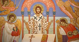 Christ celebrating the Divine Liturgy